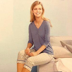 ⭐️ 3pcs Lounge Wear Pajama Set Cami Tee Pants 🌙